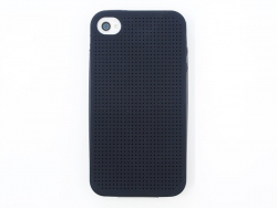 Handyhülle fürs iPhone 4/4S zum Besticken - schwarz