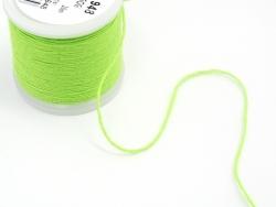 Rolle mit 20 m neonfarbenem Stickgarn - grün