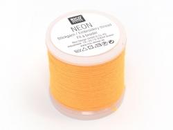 Bobine 20m de fil à broder fluo - jaune orangé Rico Design - 1