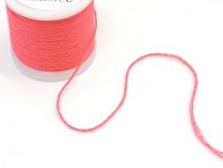Rolle mit 20 m neonfarbenem Stickgarn - rosa