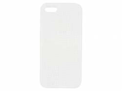 Coque IPHONE 5/5S à broder - Blanc