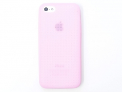 Coque IPHONE 5/5S à broder - Rose clair