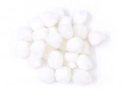 Pompons blancs - 15mm