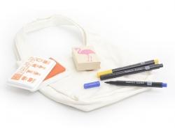 Petit sac à main en tissu à customiser
