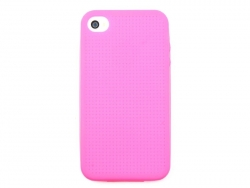 Coque IPHONE 4/4S à broder - Rose fushia  - 1