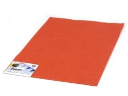 Felt sheet - dark orange