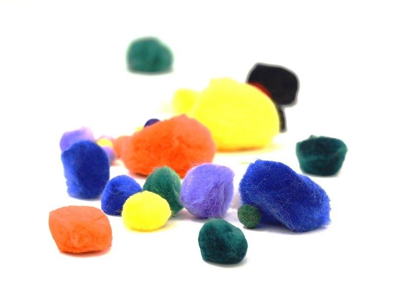 Acheter Pompons multicolores - 2,85€ en ligne sur La Petite Epicerie - Loisirs créatifs