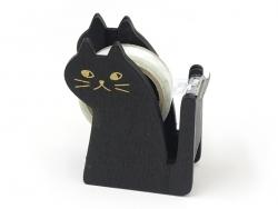 Dévidoir à ruban adhésif en forme de chat - noir Masking Tape - 1