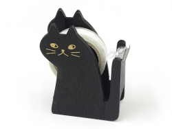 Dispenser in the shape of a cat - for adhesive tape - black Masking Tape - 1