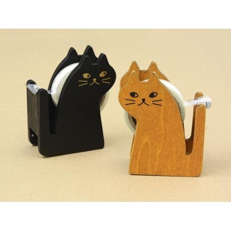 Dévidoir à ruban adhésif en forme de chat - noir Masking Tape - 2