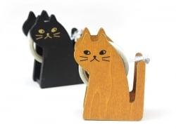 Dévidoir à ruban adhésif en forme de chat - noir Masking Tape - 3