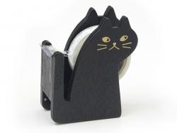 Dévidoir à ruban adhésif en forme de chat - noir Masking Tape - 4