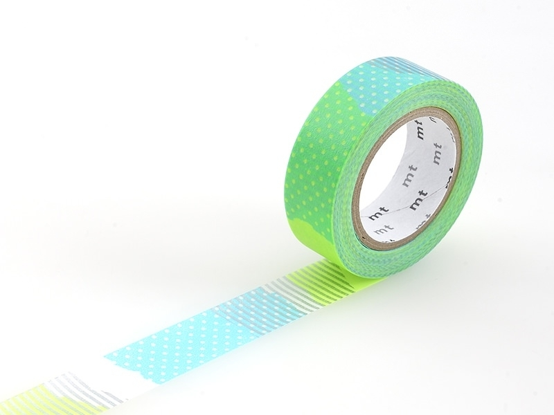 Masking tape motif - Deco fluo vert E Masking Tape - 1