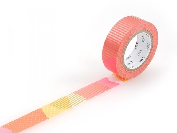 Masking tape motif - Deco fluo rose F Masking Tape - 1