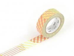Masking tape motif - Deco fluo rose