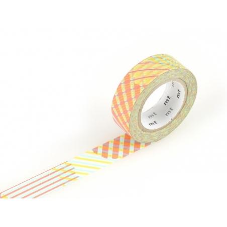 Masking tape motif - Rayures croisées rouge Masking Tape - 1