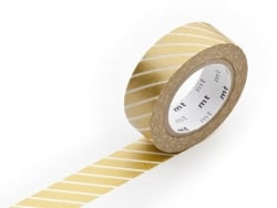 Patterned masking tape - Golden stripes Masking Tape - 1
