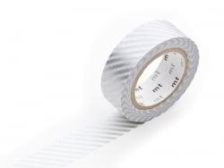 Masking tape motif - Rayé argent Masking Tape - 1