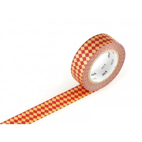 Masking tape with a pattern - Red harlequin pattern Masking Tape - 1