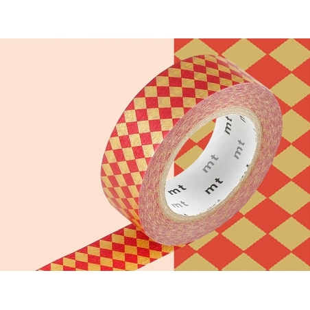Masking tape with a pattern - Red harlequin pattern Masking Tape - 2
