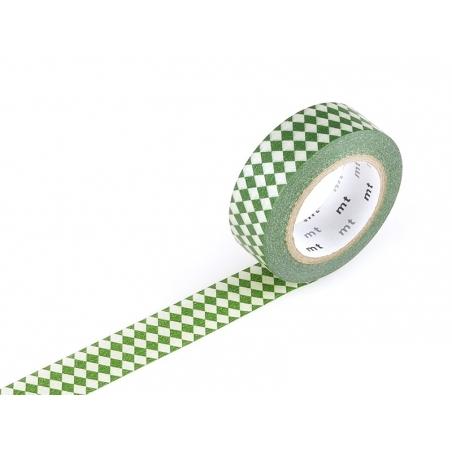 Masking tape with a pattern - Green harlequin pattern Masking Tape - 1
