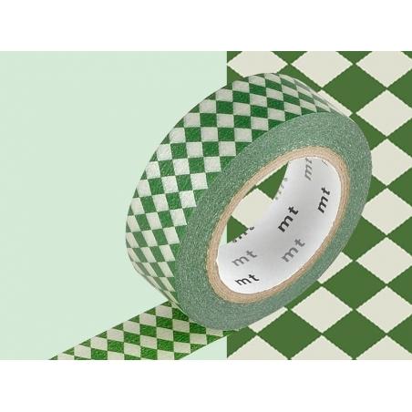 Masking tape with a pattern - Green harlequin pattern Masking Tape - 2
