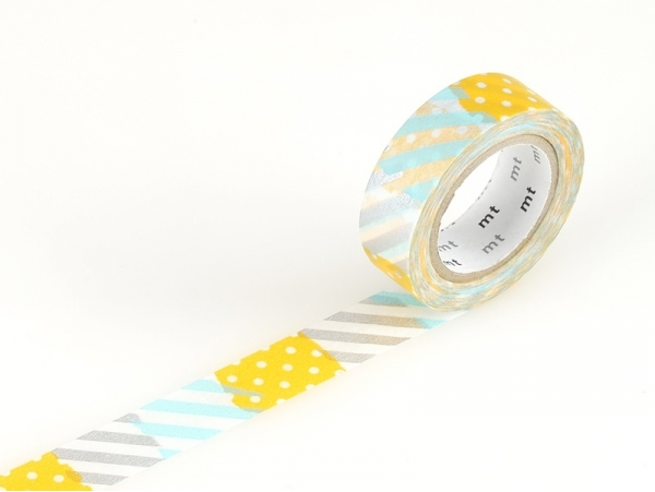 Masking tape with a pattern - Stripes and dots (H) Masking Tape - 1