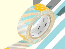 Masking tape motif - Carreaux bleus