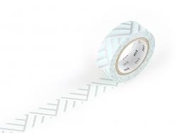 Masking tape motif - Angles bleus