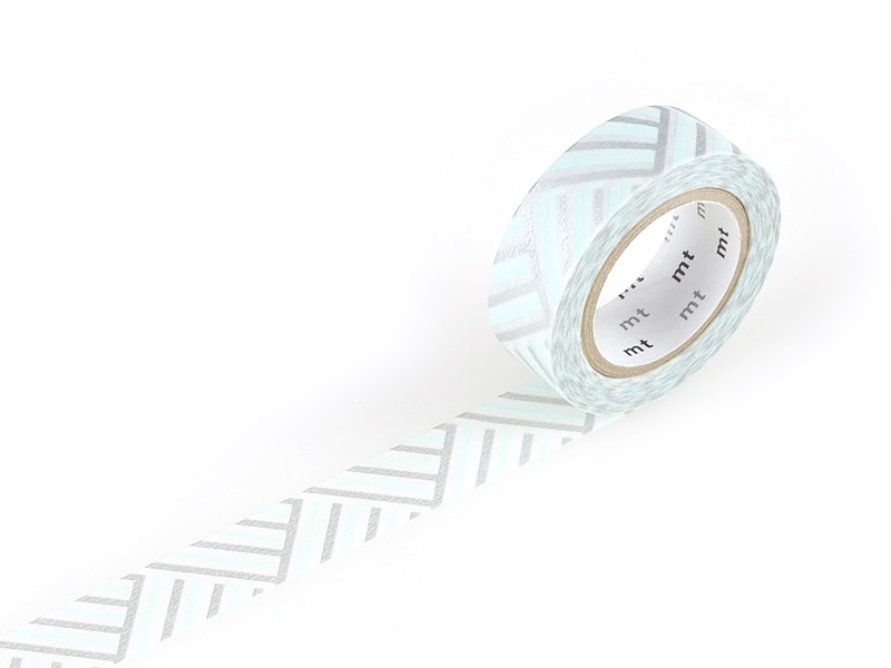 Masking tape with a pattern - Braided / angular, blue Masking Tape - 1