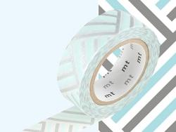 Masking tape with a pattern - Braided / angular, blue Masking Tape - 2