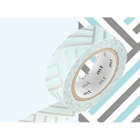 Masking tape motif - Tressage/Angle bleu Masking Tape - 2