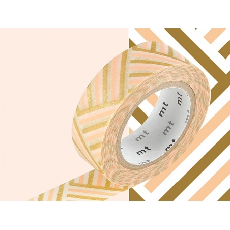 Acheter Masking tape motif - Tressage/Angle corail - 3,30€ en ligne sur La Petite Epicerie - 100% Loisirs créatifs