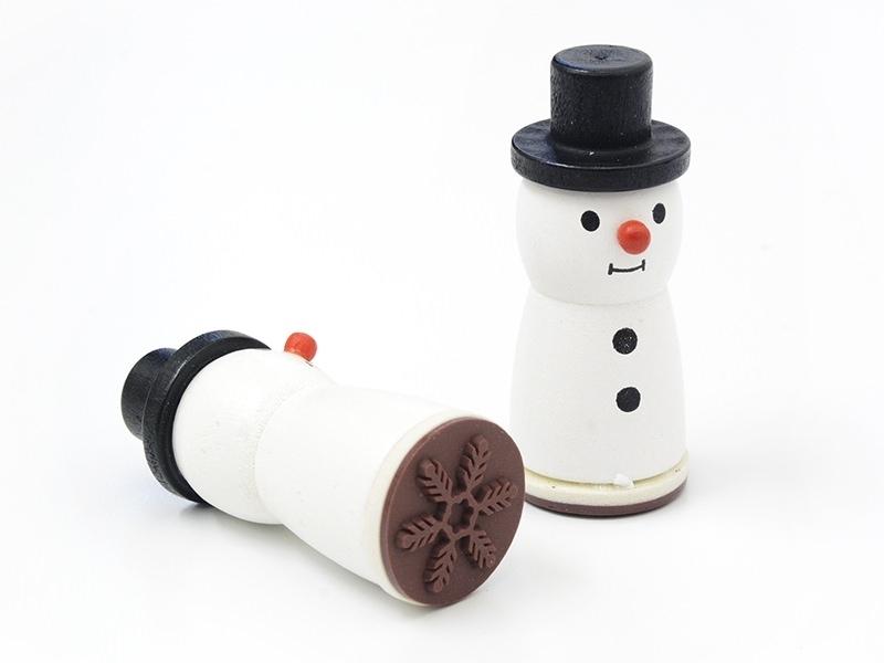 Tampon en bois bonhomme de neige - FLOCON