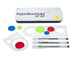 Hypotrochoid Art Set / Fensterrose - hübscher Metallkasten