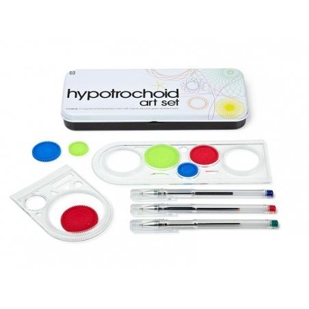 Hypotrochoid / rosette art set - beautiful metal box