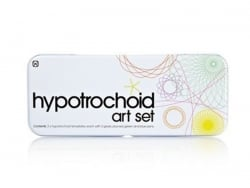Hypotrochoid / rosette art set - beautiful metal box