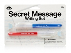 Secret message writing pen set - invisible ink
