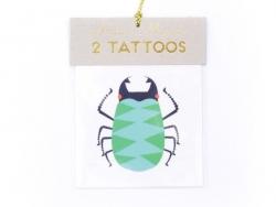 2 Tatouages insectes - vert violet et rouge Meri Meri - 1