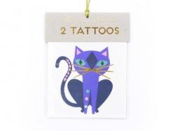 2 Tatouages chats - noir or vert et violet Meri Meri - 1
