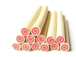 Swiss roll cane - Strawberry and Banana