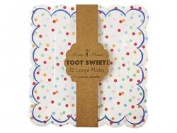 Acheter 12 assiettes en papier carrées - Multicolores - 5,85€ en ligne sur La Petite Epicerie - Loisirs créatifs