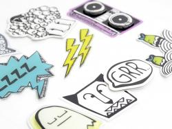 Sticker mit Relief
