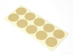 10 ornamental paper kraft stickers