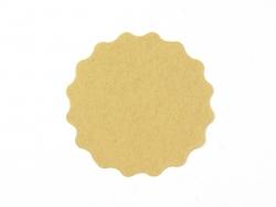 10 étiquettes kraft autocollantes rondes et ondulées