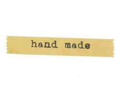 """24 Aufkleber aus Kraftpapier, bedruckt mit dem Wort """"Handmade"""""""