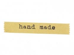 "24 étiquettes kraft autocollantes ""Handmade"""