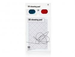 3-D drawing pad, 14.5 cm x 21 cm + 3-D specs