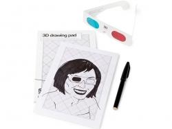 Bloc-notes 3D 14,5 x 21 cm + lunettes 3D