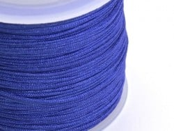 1 m of braided nylon cord, 1 mm - navy blue